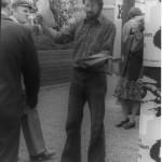 """Martin Jürges beim Sacro-Pop-Festival """"Unkraut Leben"""" in der Frankfurter Peterskirche 23. Mai 1979 Foto: Kurt-Helmuth Eimuth"""